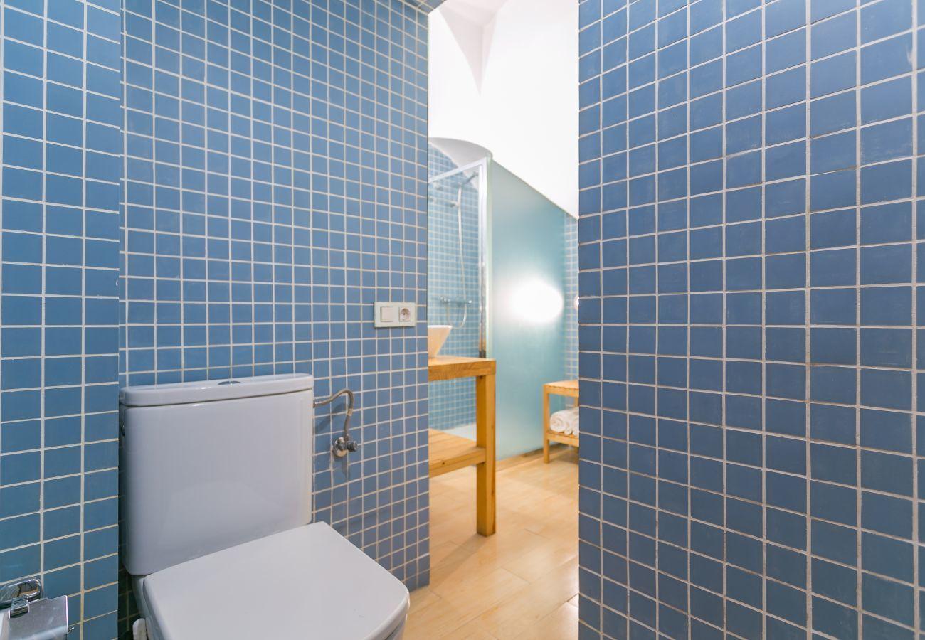 cuarto de baño del apartamento de 1 habitación en Barceloneta 2 minutos de la playa