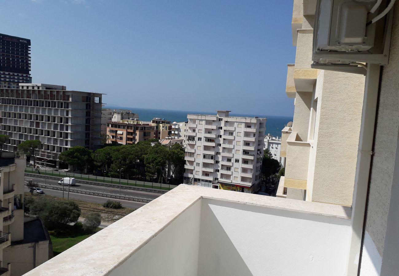 Bonita vista desde el balcón del apartamento.