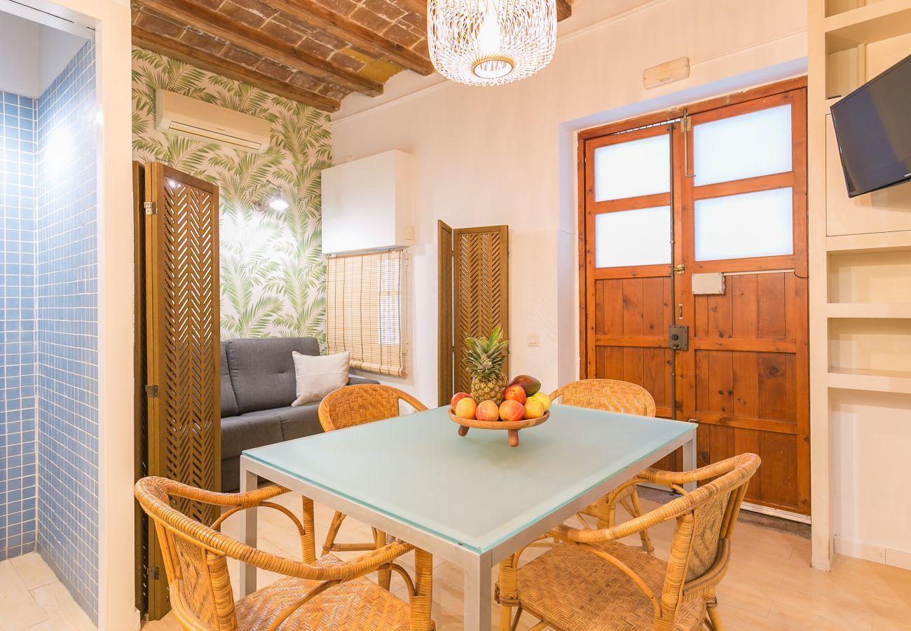 intérieur d'un appartement 1 chambre à 2 minutes de la plage de la Barceloneta