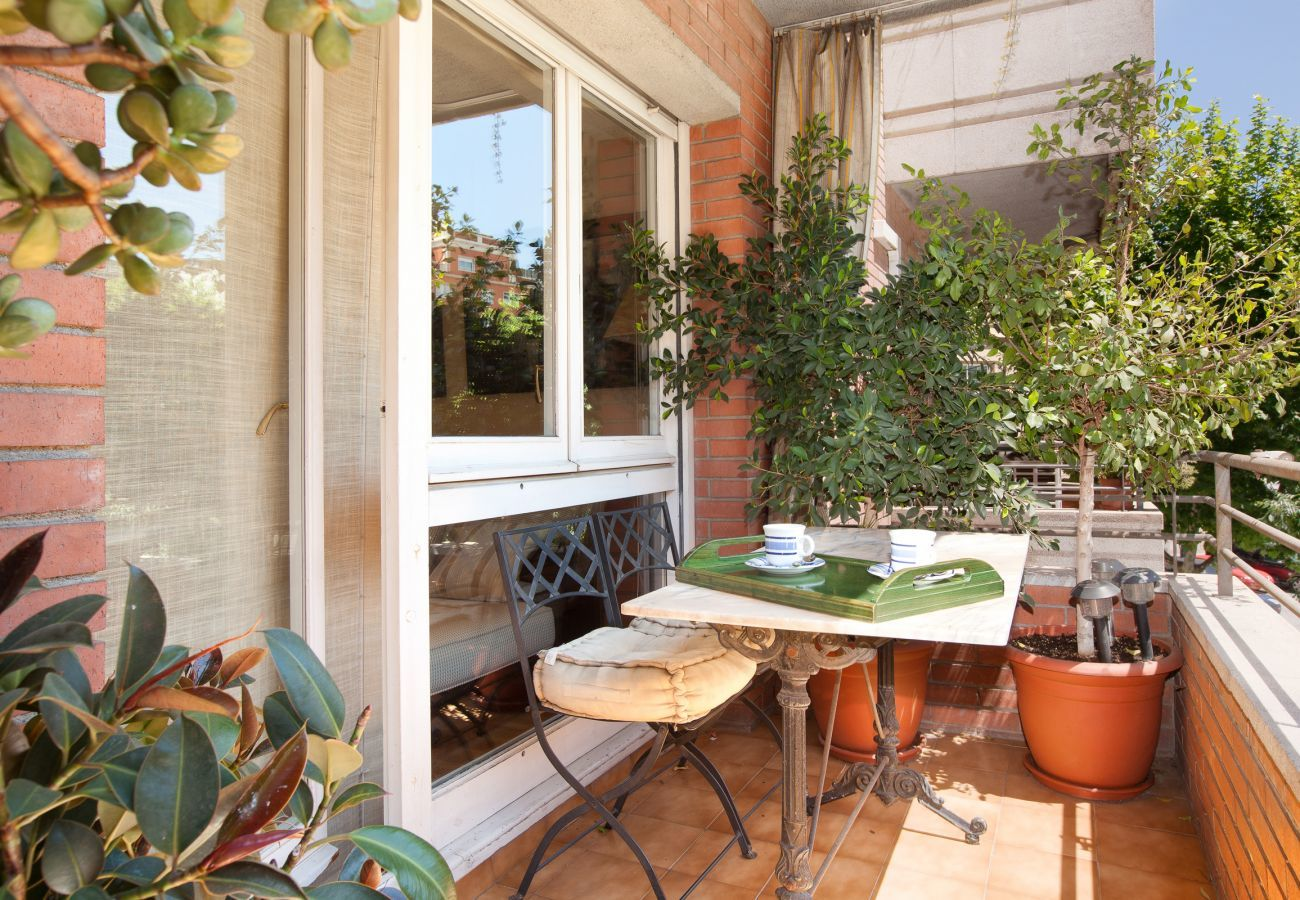 balcone di un appartamento familiare vicino alla Sagrada Familia