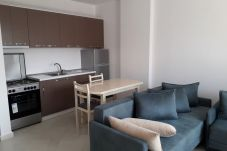 Furnished kitchen with all appliances