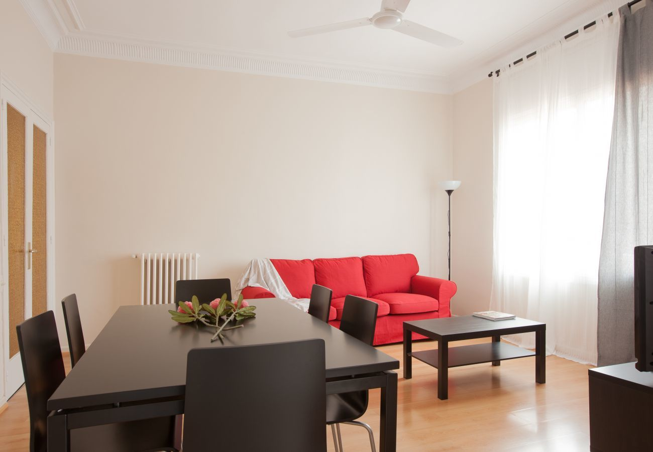 living room of apartment in Vallcarca with views to the mountains