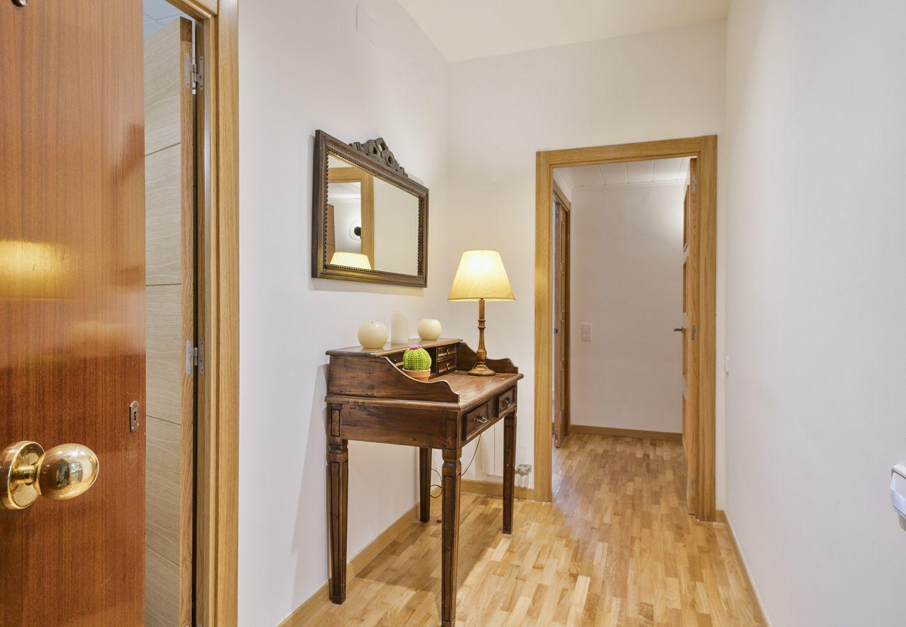 corridor of family apartment close to Sagrada Familia