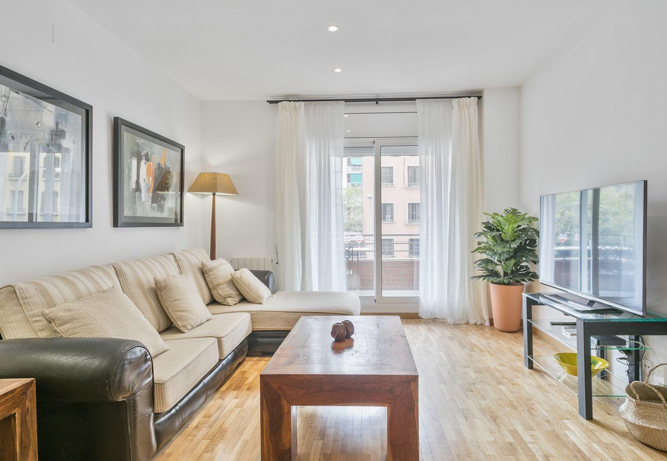living room of family apartment close to Sagrada Familia